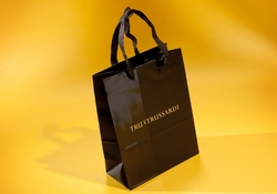 HAND FINISHED PAPER CARRIER BAG WITH TURNOVER TOP | FORMBAGS SpA