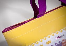 Shopping bag in carta manuale cucito con cerniera | FORMBAGS SpA