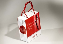 Shopping bag in carta con coupon  | FORMBAGS SpA